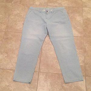 GAP stripe ankle length size 12 pants